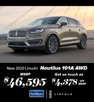 New 2020 Lincoln Nautilus 101A AWD
