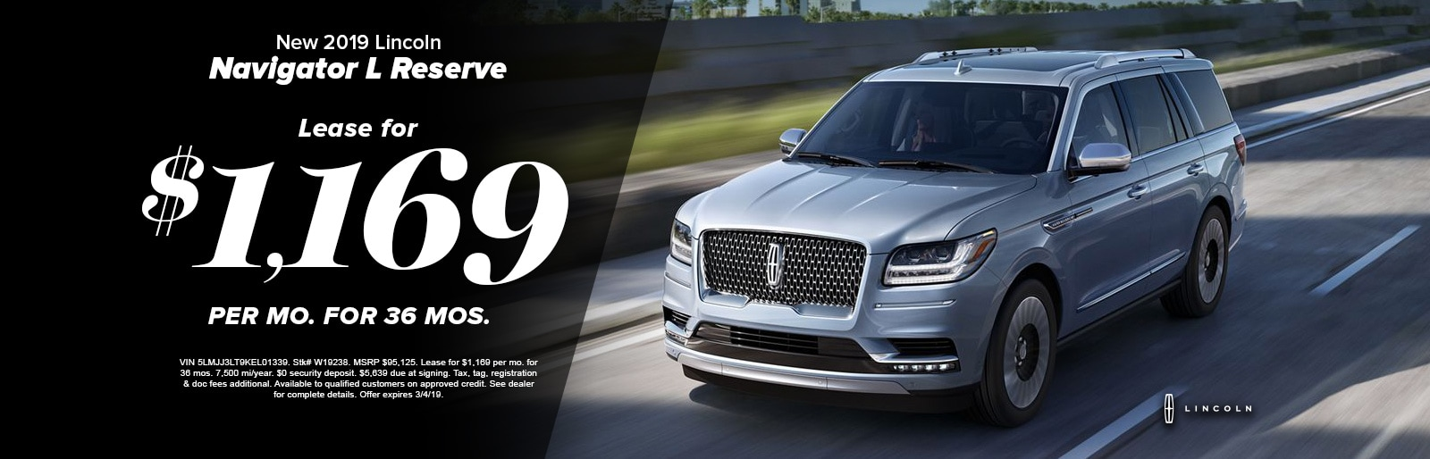 Lease A New 2019 Lincoln Navigator L Reserve For 1 169 Mo At Fred