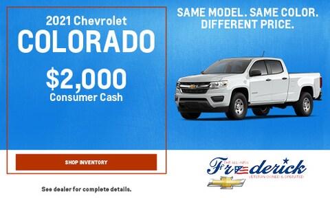 2021 Chevrolet Colorado - September