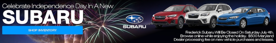 Celebrate Independence Day In A New Subaru
