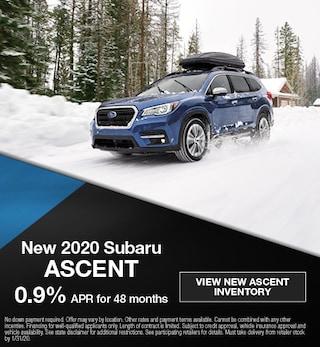 January 2020 Subaru Ascent Offer