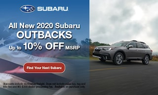 2020 Subaru Outback - Discount off MSRP