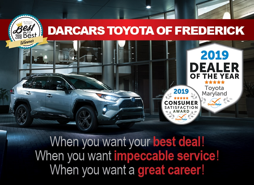 DARCARS Toyota of Frederick Dealer Awards