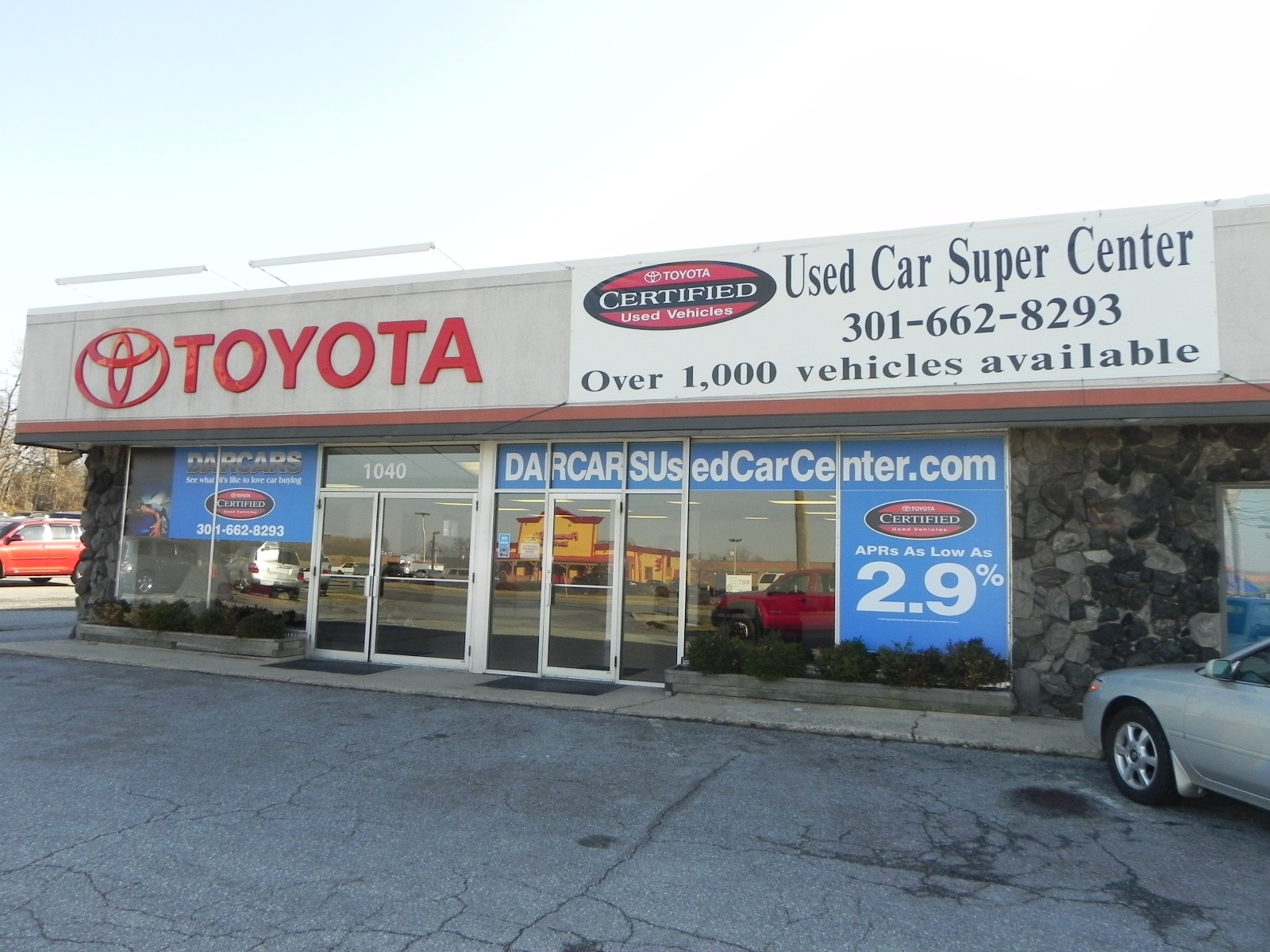 used car dealership darcars toyota of frederick on route 40