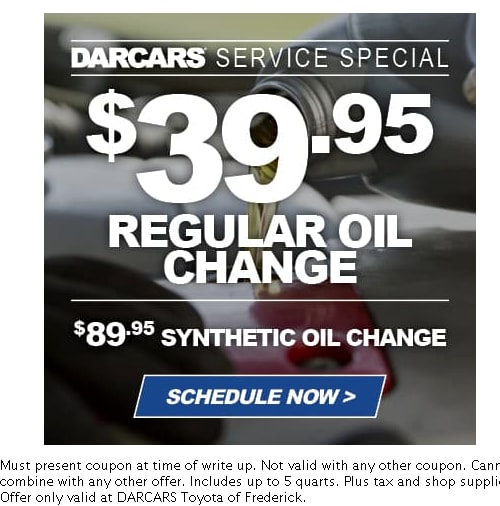 picture regarding Take 5 Oil Change Coupons Printable named Toyota Assistance Discount codes Frederick: DARCARS Toyota of Frederick