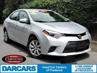 Certified 2016 Toyota Corolla LE Sedan in Frederick