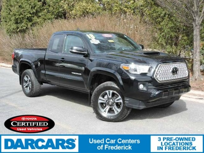 Certified 2018 Toyota Tacoma TRD Sport V6 Truck Access Cab in Frederick