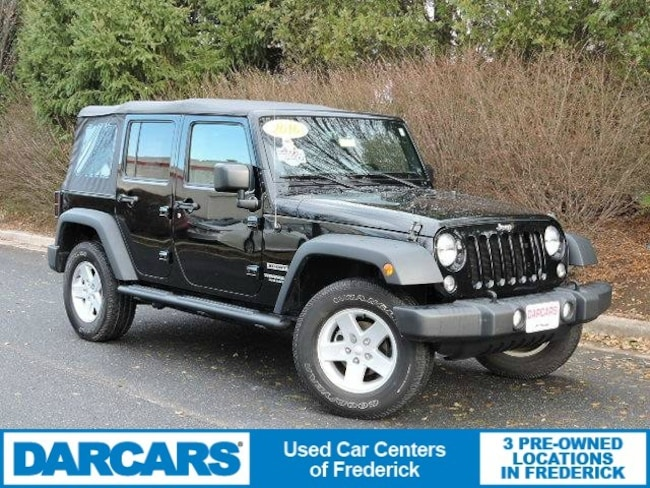 Used 2016 Jeep Wrangler JK Unlimited Sport 4X4 SUV in Frederick