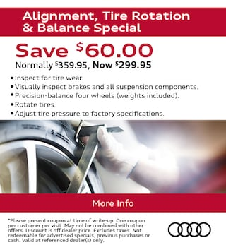 Alignment, Tire Rotation & Balance Special
