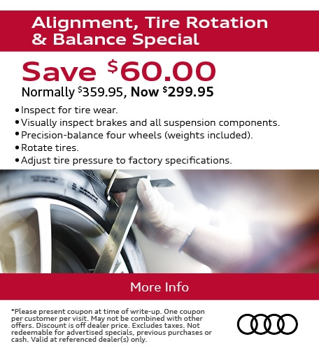Alignment, Tire Rotation & Balance Special