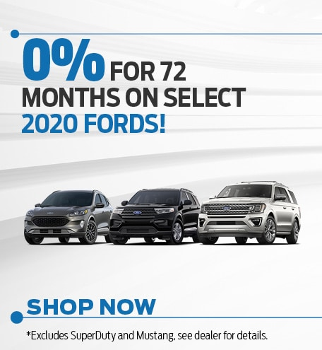 0% for 72 mos on Select 2020 Models