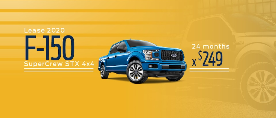 Lease a 2020 Ford F-150 SuperCrew STX 4x4