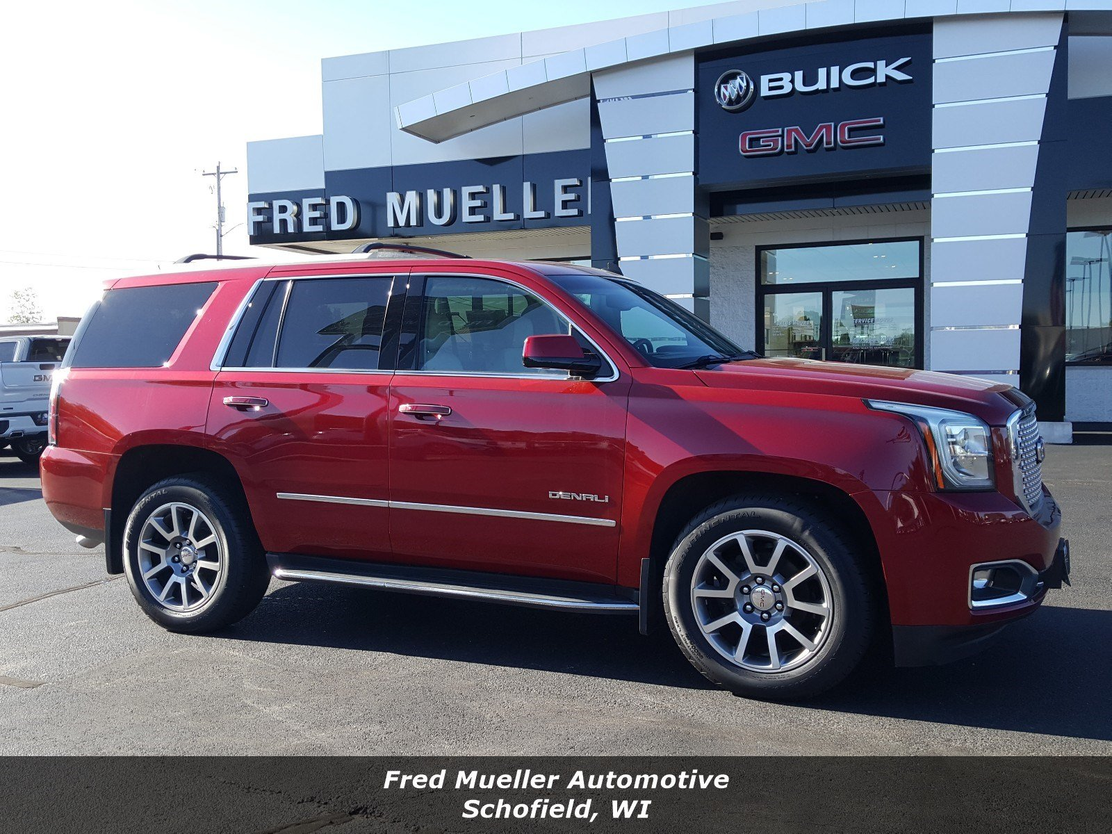 Featured pre-owned vehicles 2015 GMC Yukon Denali SUV for sale near you in Schofield, WI