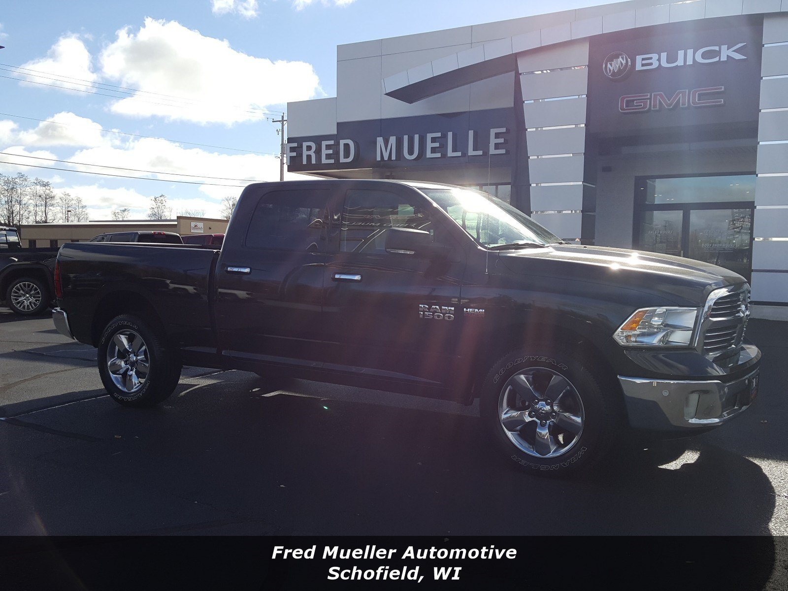 Featured pre-owned vehicles 2018 Ram 1500 Big Horn Truck Crew Cab for sale near you in Schofield, WI