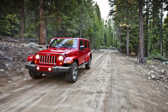 2017 Jeep Wrangler Red Exterior Off-Road