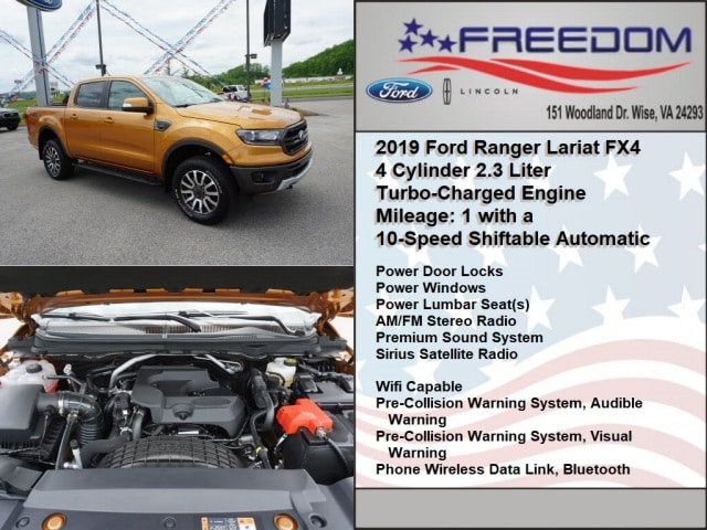 Freedom Ford Wise Va >> New 2019 Ford Ranger For Sale At Freedom Auto Group Vin