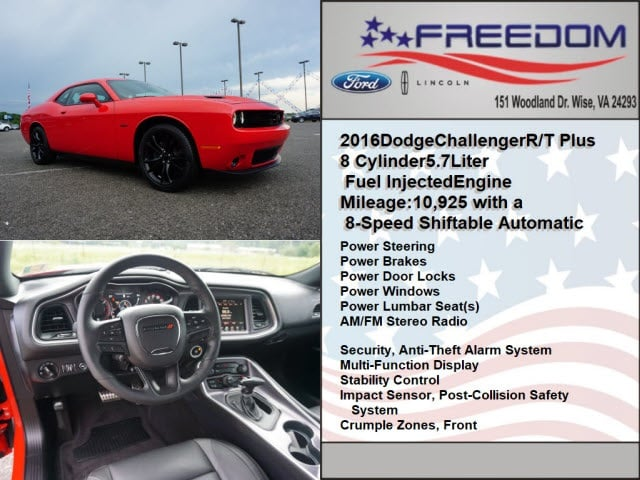 Used 2016 Dodge Challenger For Sale at Freedom Auto Group