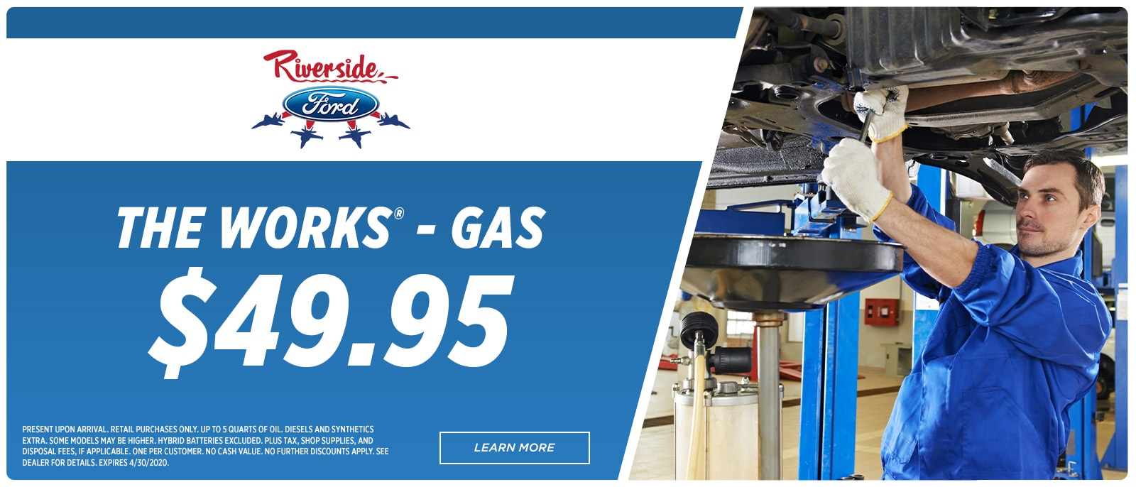 Riverside Ford Service-1600x686 - Walk In Oil Change The Works | Havelock, NC