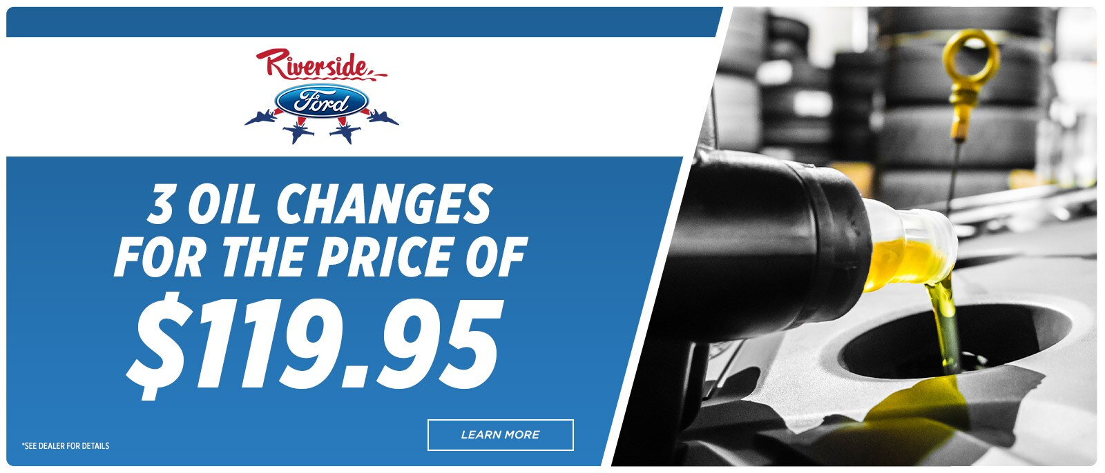 Riverside Ford Service-1600x686 - 3 Oil Changes | Havelock, NC