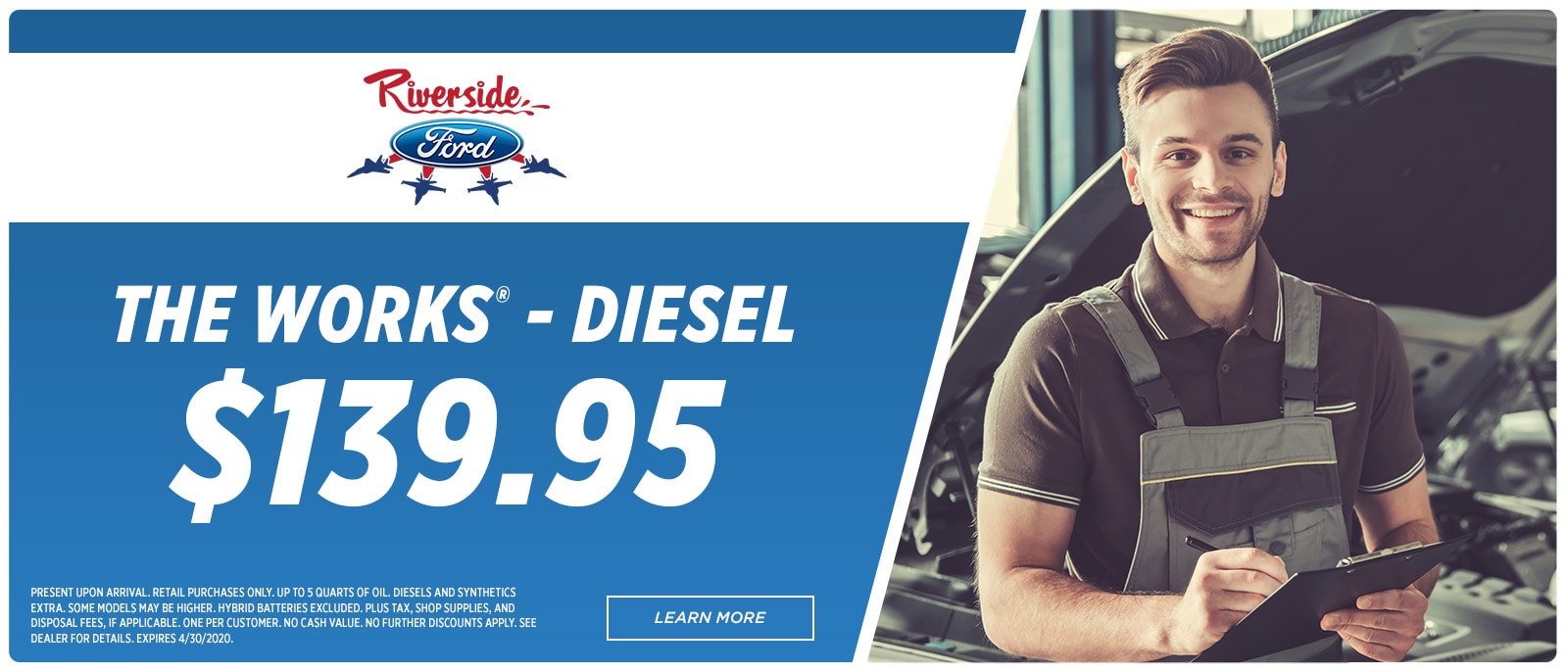 Riverside Ford Service -1600x686 -The Works Diesel | Havelock, NC