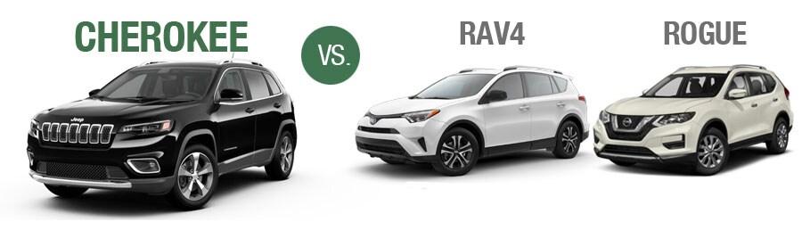 Rav4 Vs Rogue >> Jeep Cherokee Comparison Vs Toyota Rav Vs Nissan Rogue Freehold