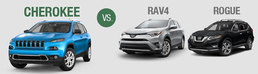 Jeep Cherokee Comparison vs. Toyota RAV vs. Nissan Rogue | Freehold ...