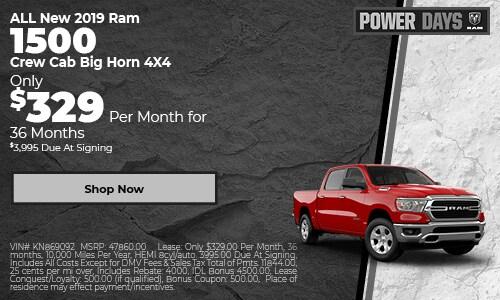 ALL New 2019 Ram 1500 Crew Cab Big Horn 4X4