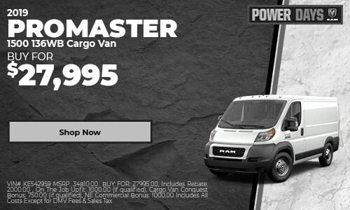 2019 ProMaster 1500 136WB Cargo Van