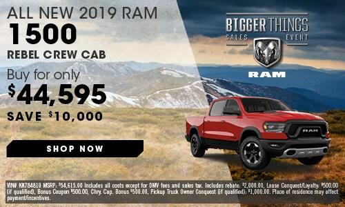 May | 2019 Ram 1500 Rebel Crew Cab