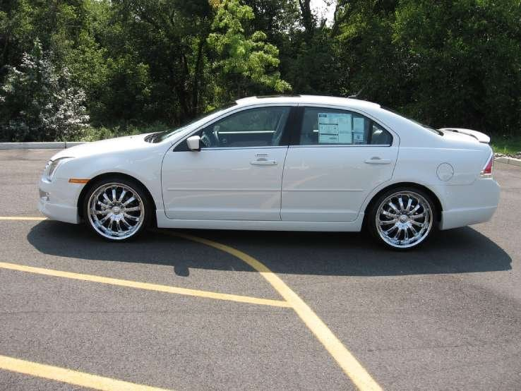 Ford Fusion Fwd Sel With  Chrome Wheels Tires D Carbon Body Kit W Rear Window Spoiler And Lowering Kit