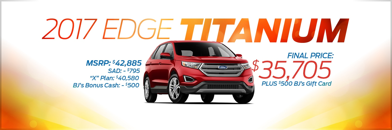 Take A Look At These Amazing Savings  Ford Edge