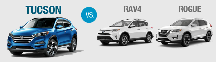 Compare Hyundai Tucson Toyota RAV4 Nissan Rogue at Freehold Hyundai ...