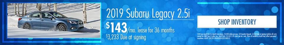 March | 2019 Subaru Legacy