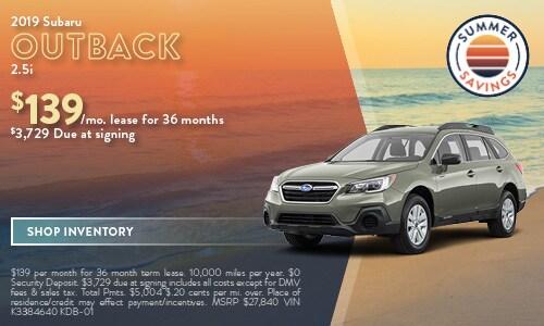 July | 2019 Subaru Outback