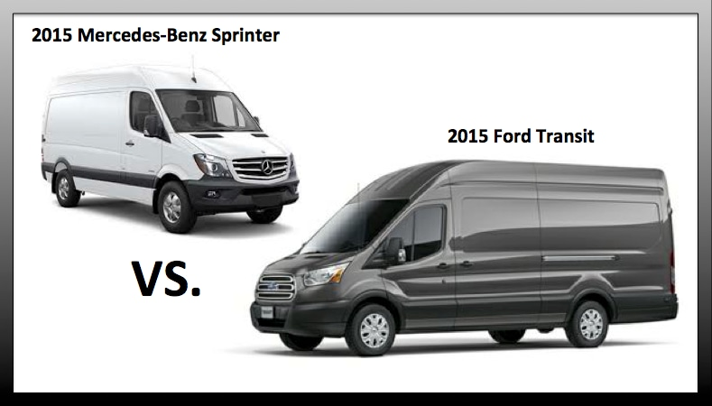 Ford Transit Vs Mercedes Benz Sprinter Near Melrose Park
