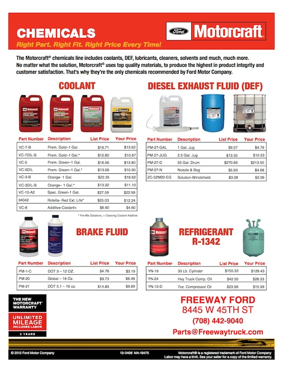 Genuine Ford Parts Coupons, Discounts & Specials   Freeway Ford