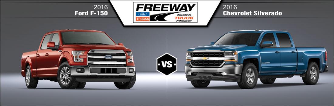 f 150 vs chevy silverado comparison freeway ford near joliet. Black Bedroom Furniture Sets. Home Design Ideas