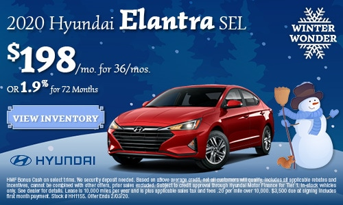 January 2020 Hyundai Elantra Offer