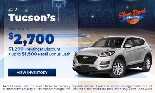 2019 Tucson's save up to $2,700