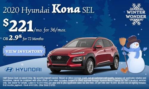 January 2020 Hyundai Kona Offer