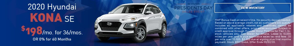 February 2020 Hyundai Kona SE