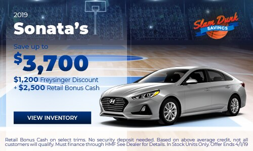 2019 Sonata's Save up to $3,700