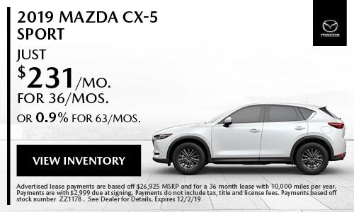 November Mazda CX-5 Sport Special