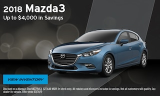 2018 Mazda3 up to $4,000 in Savings