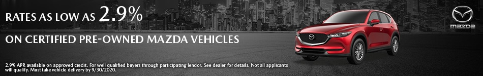 Certified Pre-Owned Mazda Vehicles