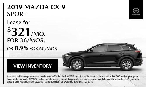 November Mazda CX-9 Sport Special