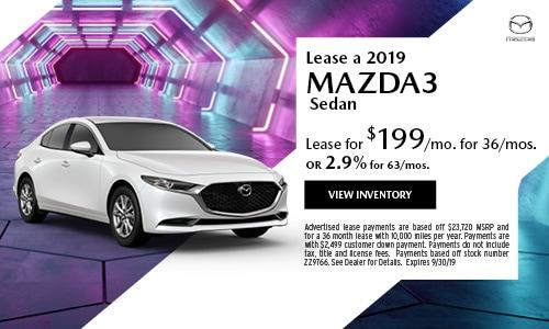 September Mazda3 Special