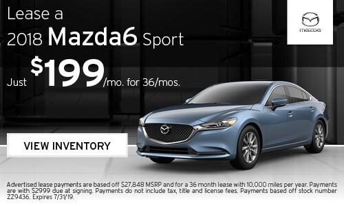 July Mazda6 lease