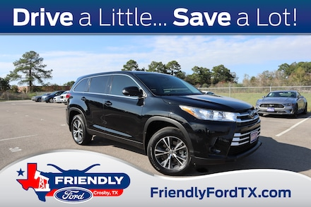 Featured Used 2019 Toyota Highlander LE V6 SUV for Sale near Houston, TX