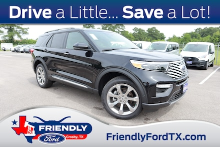 Featured New 2020 Ford Explorer Platinum SUV for Sale in Crosby, TX